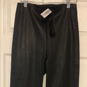 Leather stretch pants, Aritzia NWT